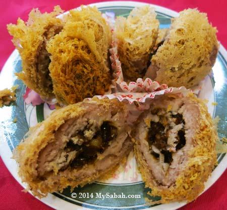 deep fried yam dumplings