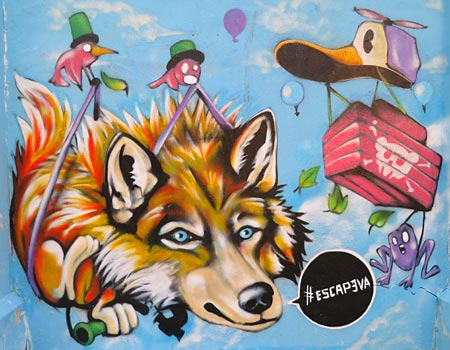 cartoon street art