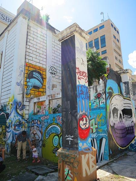 graffiti zone of Kota Kinabalu city