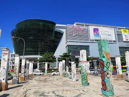 Graffiti area facing Suria Sabah Shopping Mall