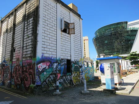 street art on old welfare building