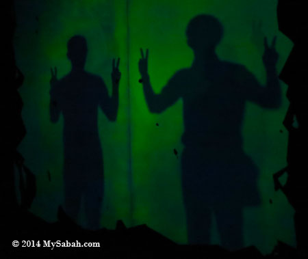 our shadows on shadow wall