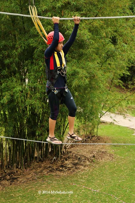 high ropes challenge: Postman's Walk