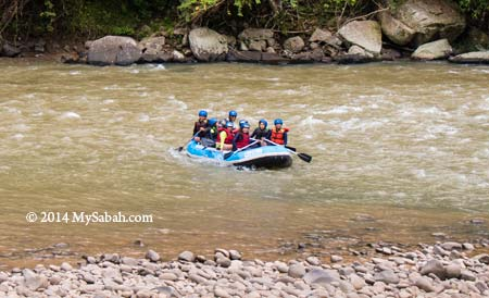 white water rafting on Kiulu River