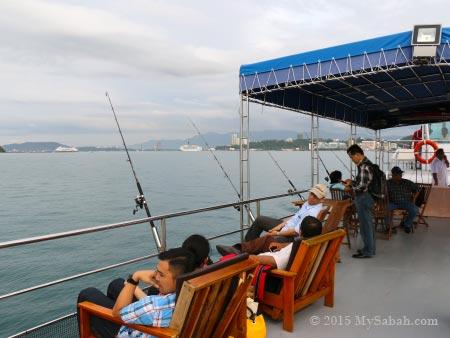 upper deck of Hydian Way boat