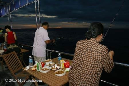 fishing in open sea