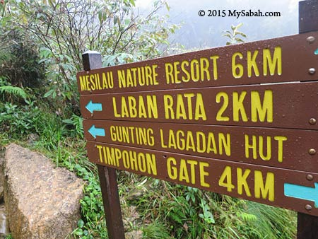 signage at Layang-Layang junction