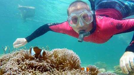 snorkelling with Nemo