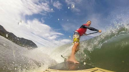 surfing with Paddle Board