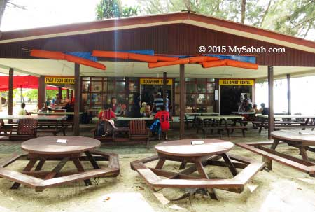 Cafe on Manukan Island