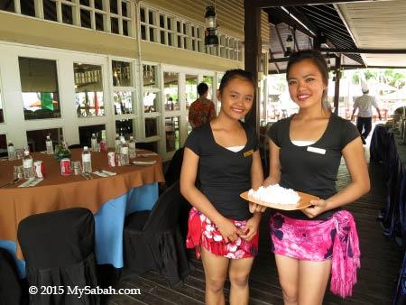 Perahu Restaurant on Pulau Manukan