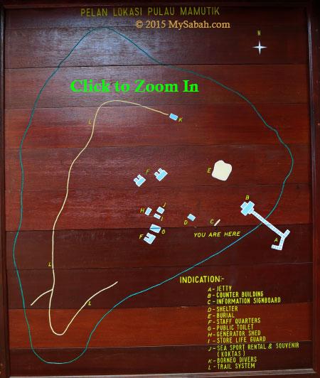 layout map of Mamutik Island