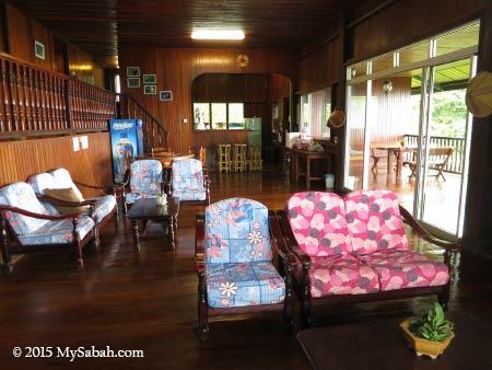 living room of Kinabalu Mountain Lodge