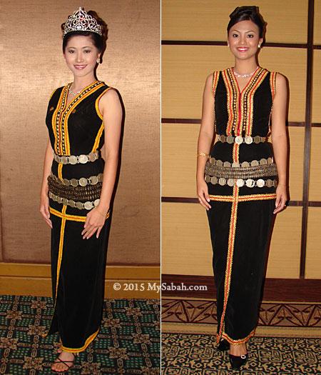 Kadazan Penampang ladies in traditional costume