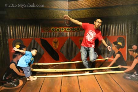 magunatip bamboo dance in 3D painting