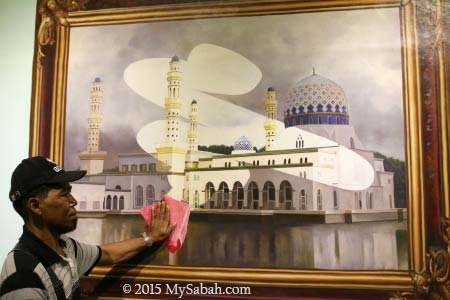 3D painting of Likas City Mosque