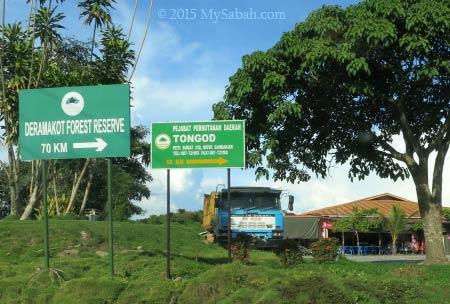 junction to Deramakot Forest Reserve