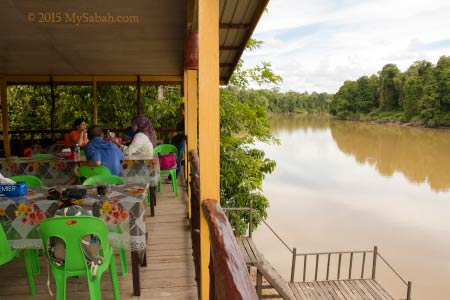 lake view at Tanjung Bulat Jungle Camp