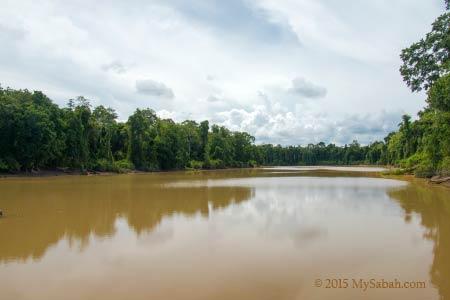 oxbow lake of Tanjung Bulat Jungle Camp
