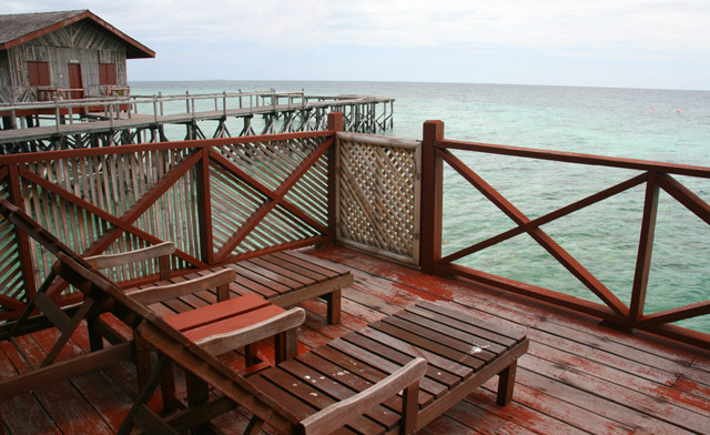 balcony of island resort