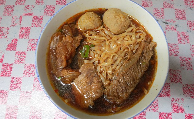 Spicy Beef Noodle (Sabah + Taiwan style) of Good Luck Restaurant