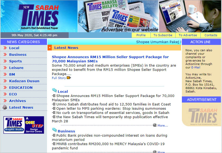 New Sabah Times newspaper