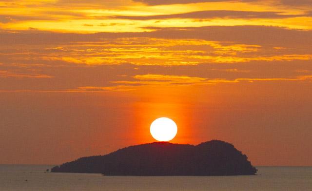 sunset of Sabah