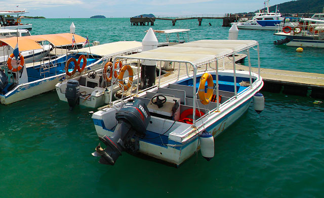 How to go to Islands nearby Kota Kinabalu city?
