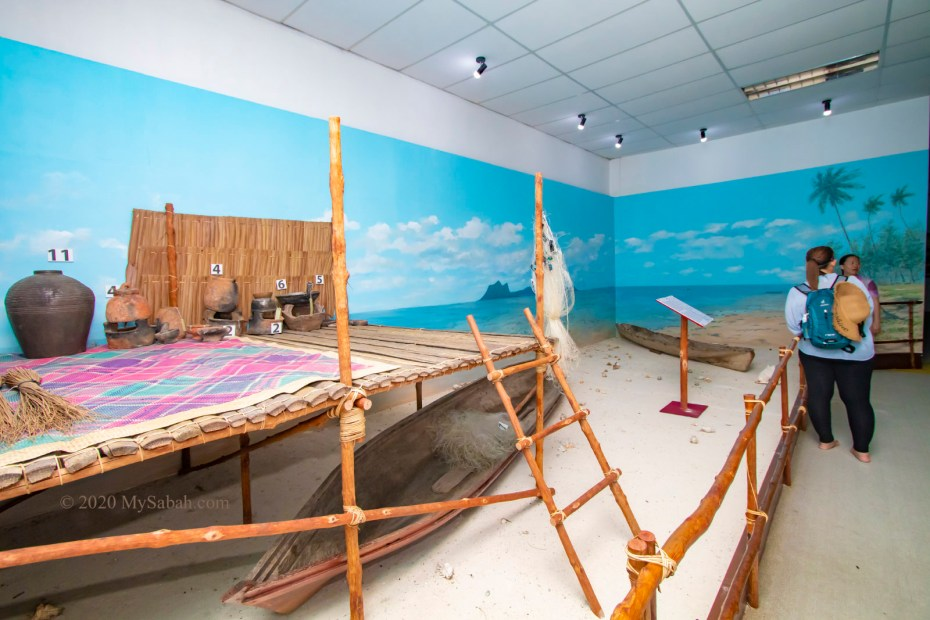 Gallery on first floor that showcase the lifestyle of Sea Bajau in Semporna