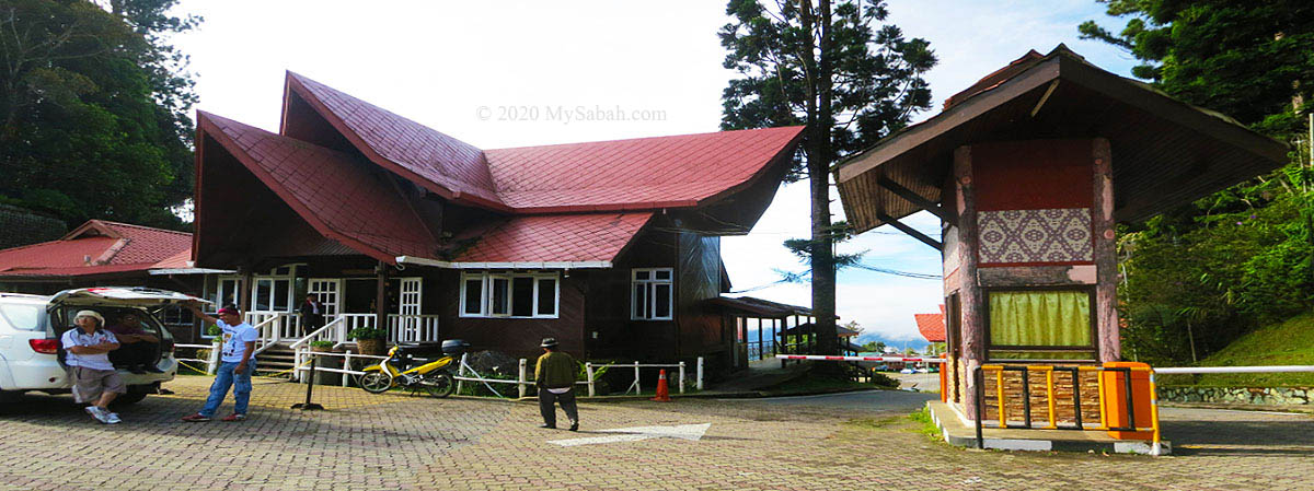Administration building and ticket booth at the entrance of Kinabalu National Park