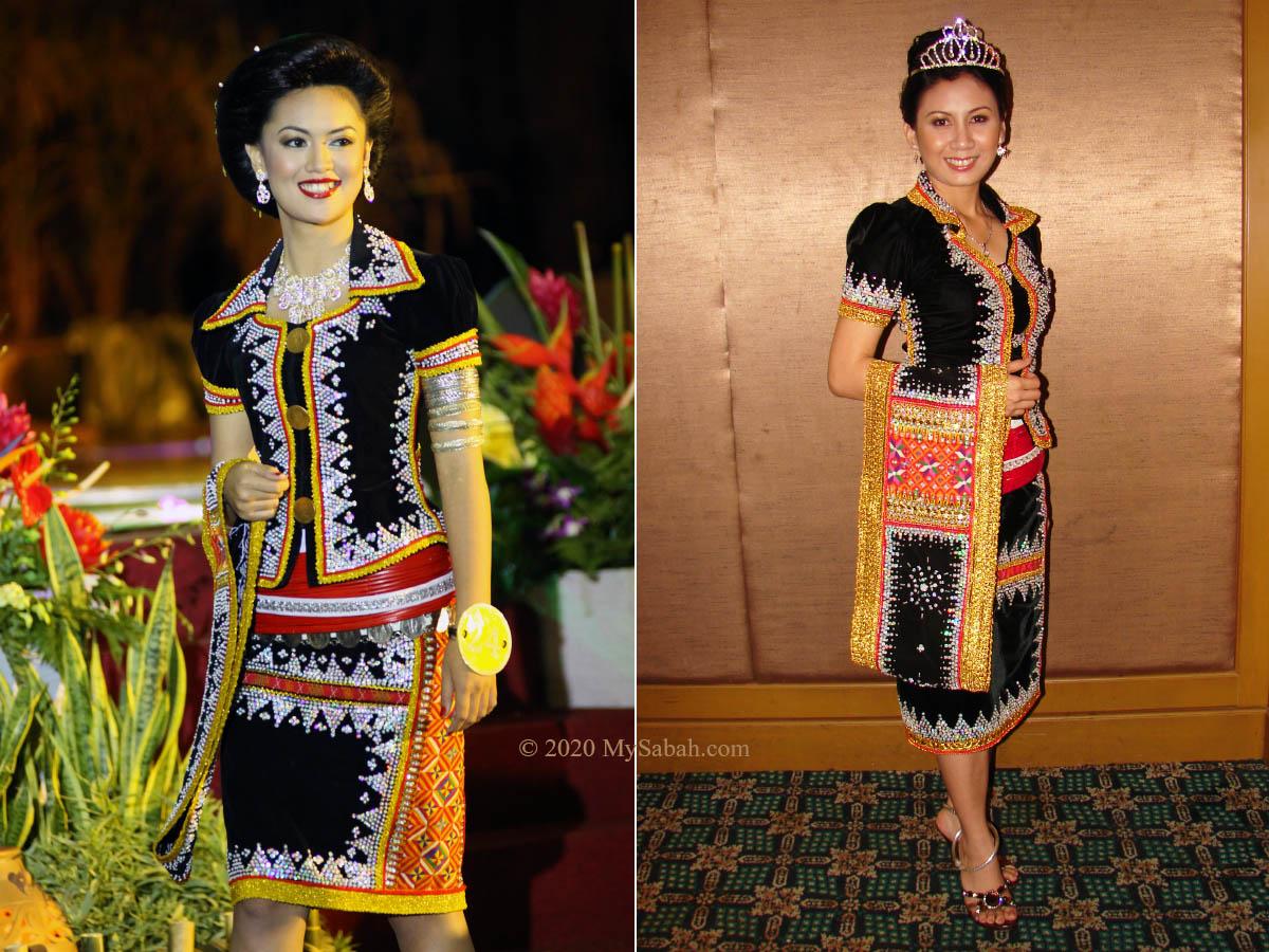 Ladies in Dusun Lotud costume