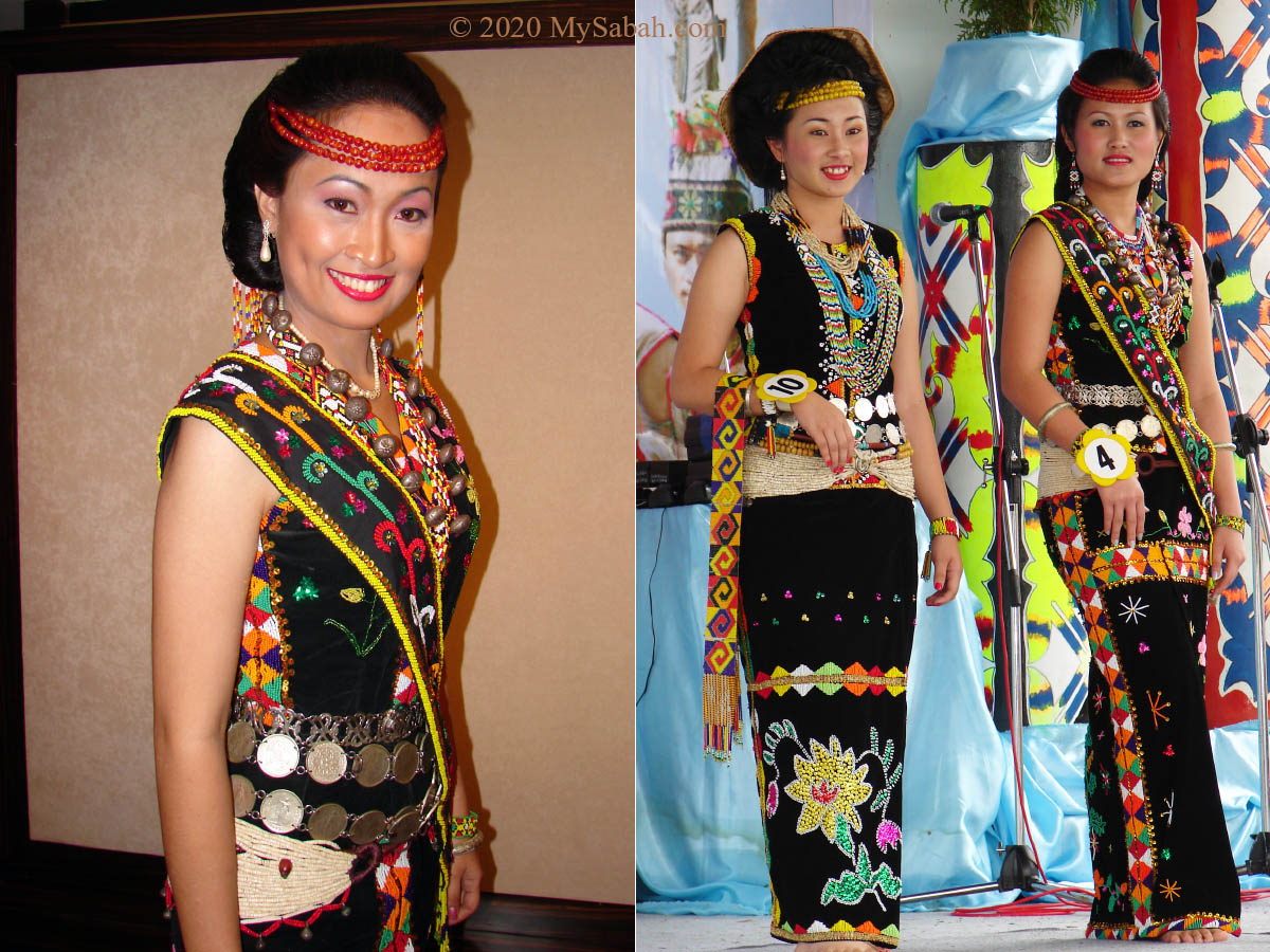 Beautiful female traditional costume of Murut
