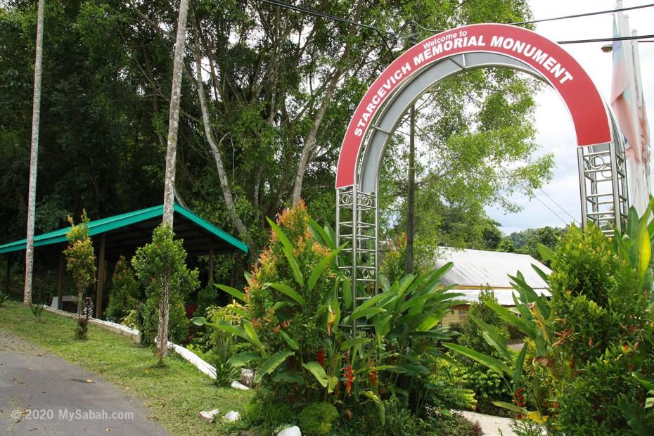 Starcevich Memorial Monument next to the Tugu Road (Jalan Tugu)