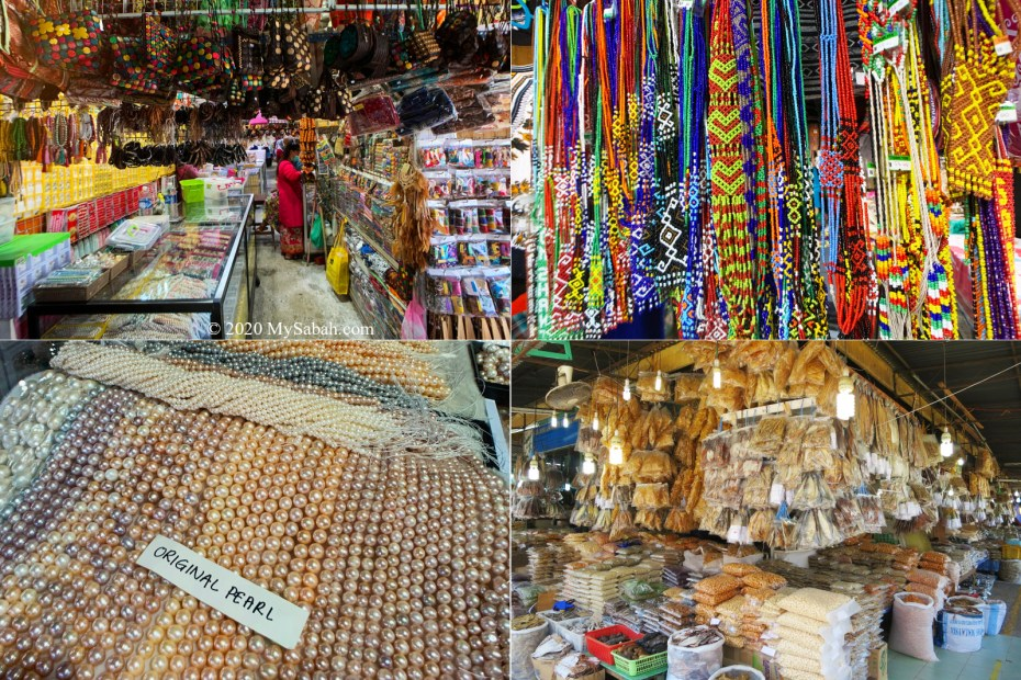 Souvenir Stalls and Dried Seafood at Filipino Market