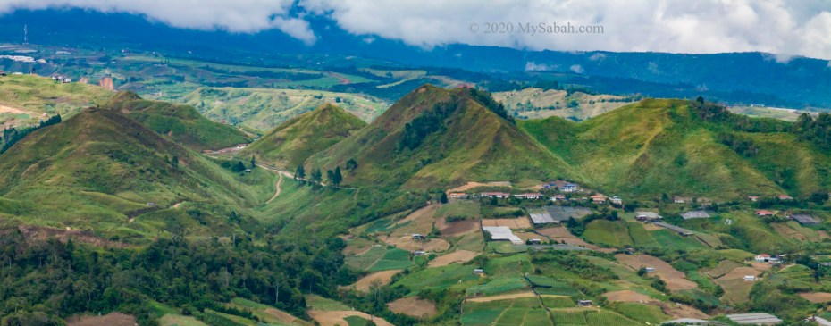 Pyramid Hills of Kundasang