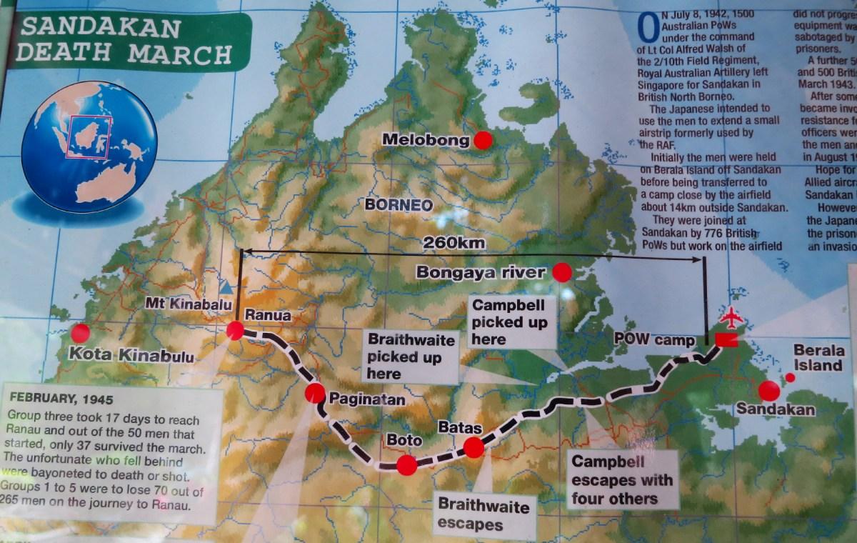 POW route of Sandakan Death Marches