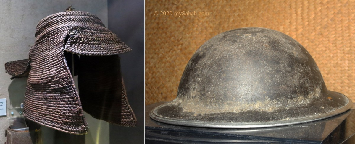 Hat / Helmet of Japanese and Australian soldiers in the Second World War