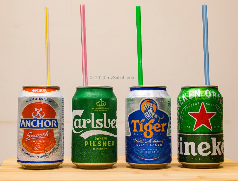 Beers with straws