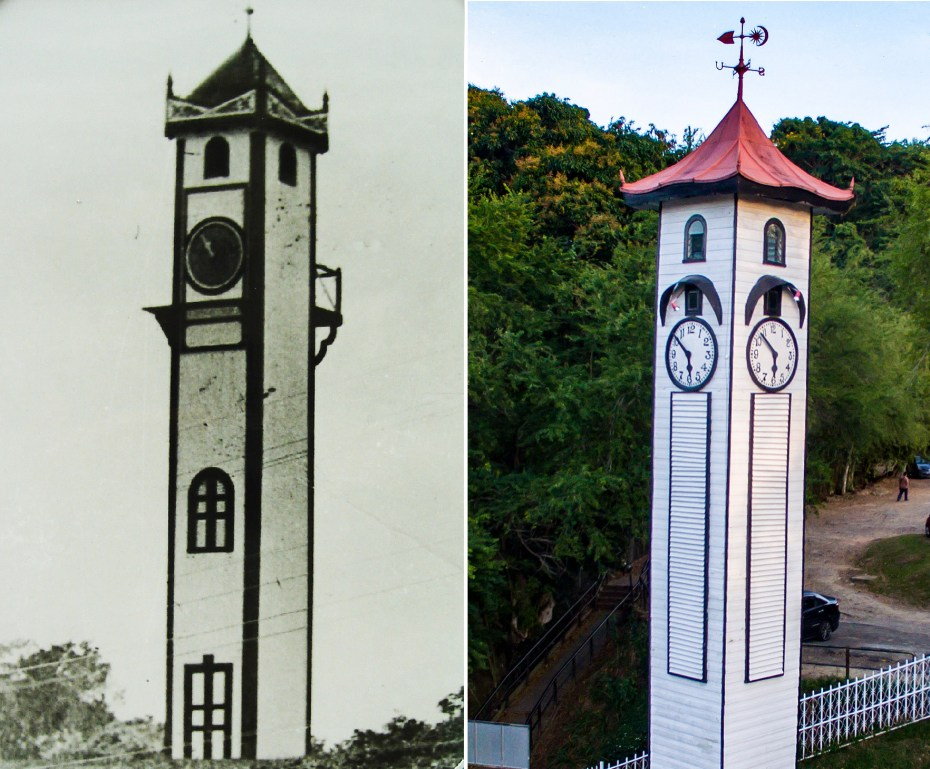The old and new Look of Atkinson Clock Tower (1930 vs 1959)
