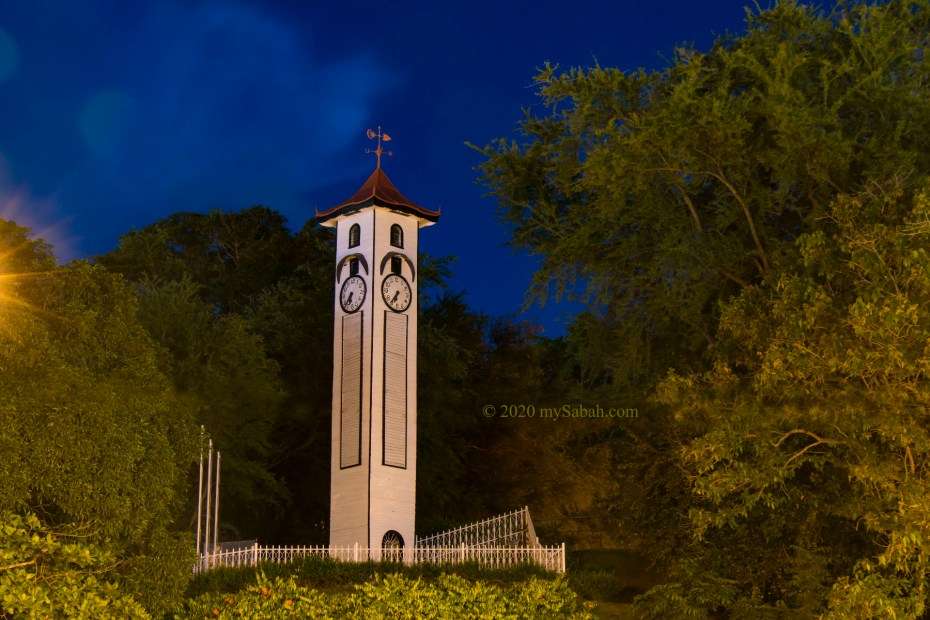 Atkinson Clock Tower in the evening