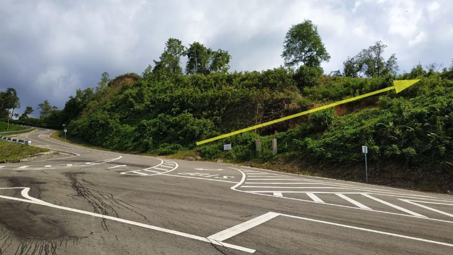 Road at Sugud stargazing site