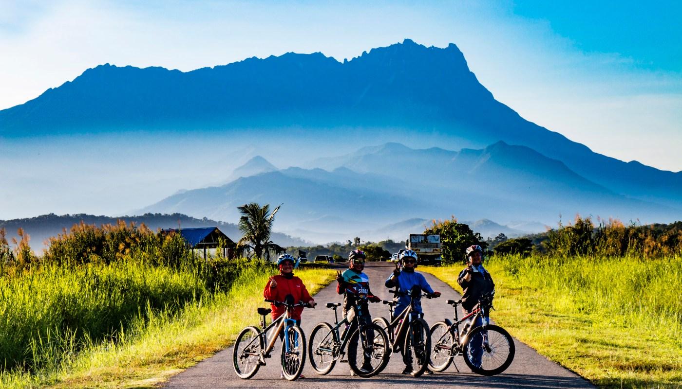 Cycling at Tempasuk Plains, Kota Belud