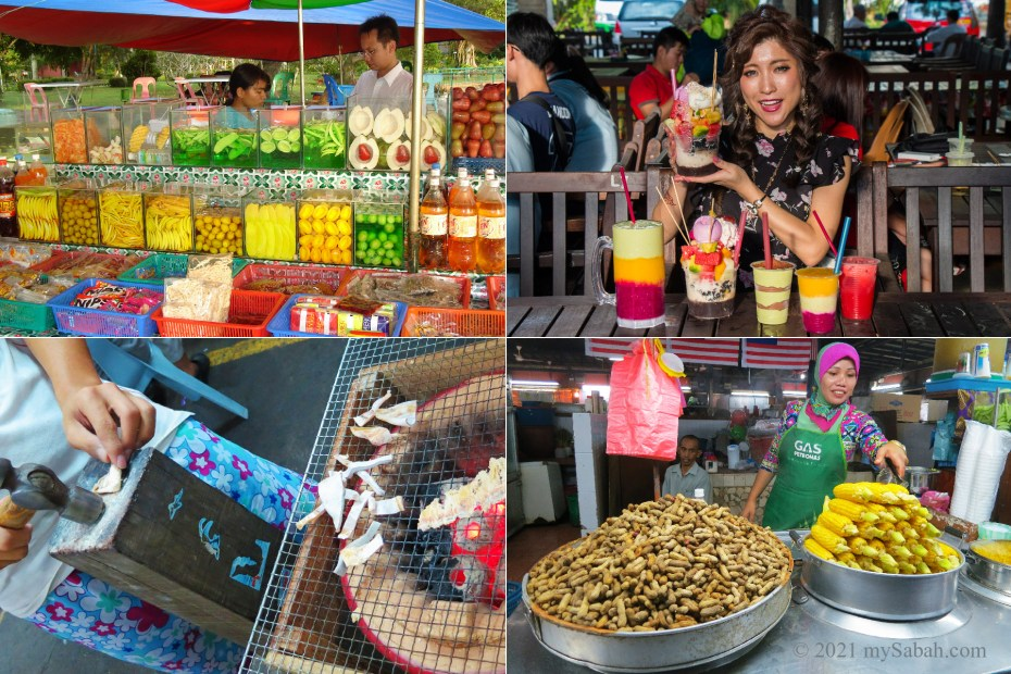 Food and snacks that are gone from Tanjung Aru Beach