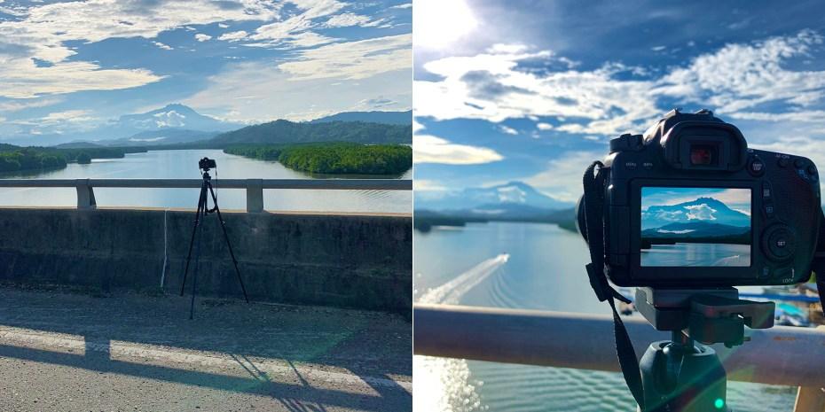 Photo shooting on Mengkabong River Bridge