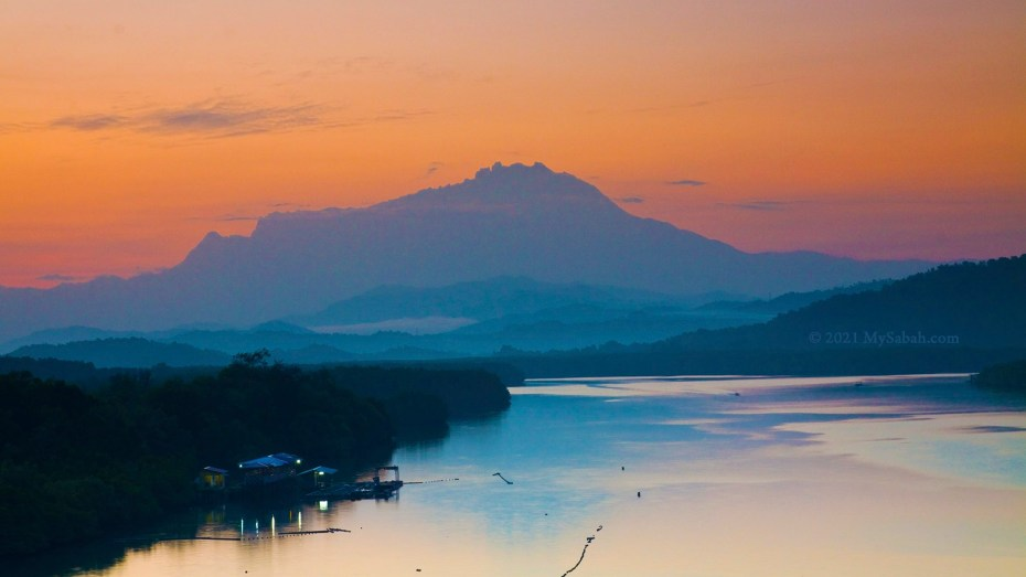 Sunrise shot of Mount Kinabalu at Mengkabong