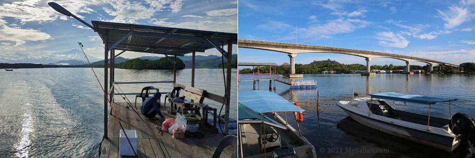 Fishing platform and jetty on Mengkabong River