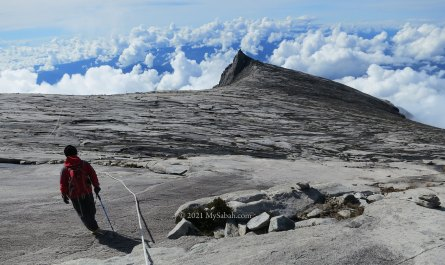 climber on Mount Kinabalu