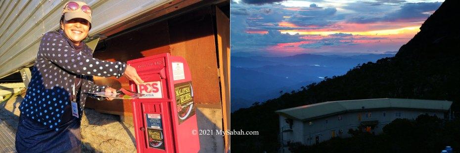Postbox and sunset at Panalaban