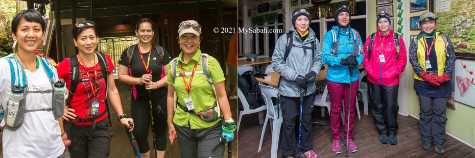 Climbing outfit of Day 1 and Day 2