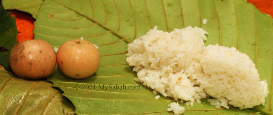 Liposu fruits and white rice